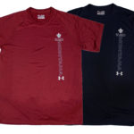 mens UA tees blue and red