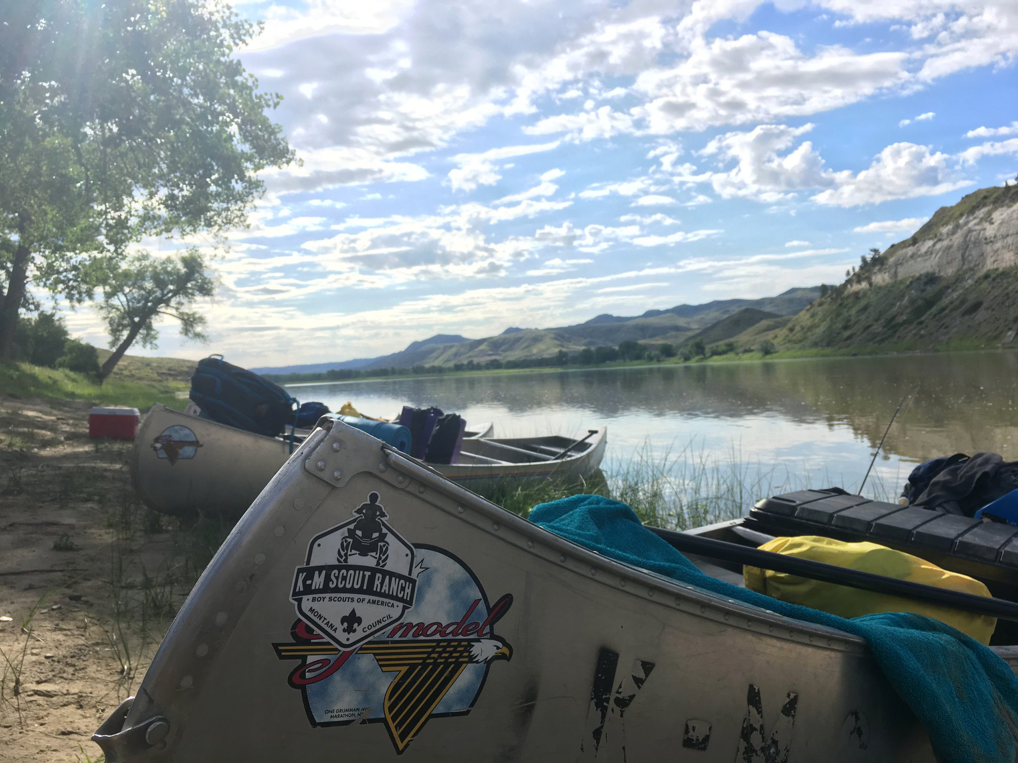 Photo Contest Winner, Youth 2nd place: K-M Missouri River Trek Summer 2019 #2 by Gavin C., Troop 1936, Whitefish.