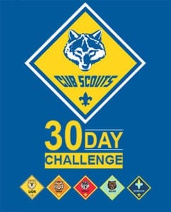 30 Day Cub Scout Challenge